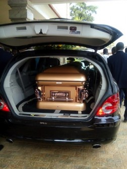 The casket of Kate