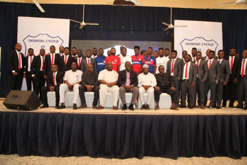 At the unveiling of Ikorodu United FC in Lagos on Thursday, 28 Jan. 2016