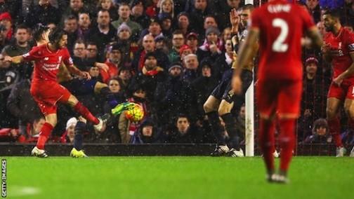 Joe Allen scores crucial equaliser for Liverpool
