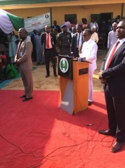 Governor Nasir El Rufai at the launch of the School Feeding Program
