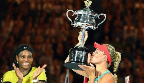 Kerber becomes the first German since Steffi Graf in 1999 to win a Grand Slam title