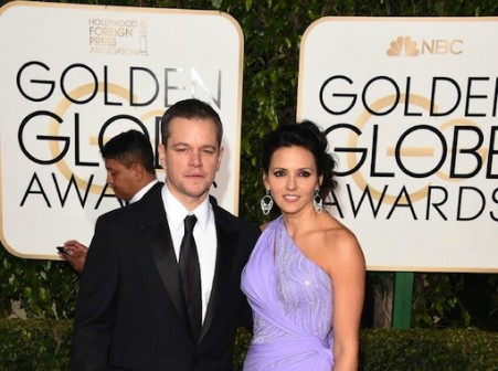 """Matt Damon has won the Golden Globe for best actor in a comedy or musical film for his role in """"The Martian"""" (AFP Photo/Jason Merritt)"""
