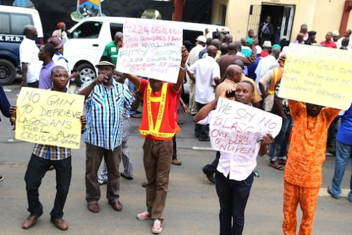 NUPENG Protest: Their message to the Lagos State Government