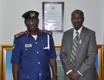 NSCDC chief Abdullahi Gana Muhammadu and his EFCC counterpart, Ibrahim Magu