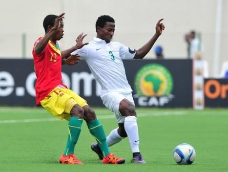 Super Eagles, Nigeria trade tackles with Guinea