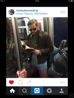 Instagram users got in on the trouserless event