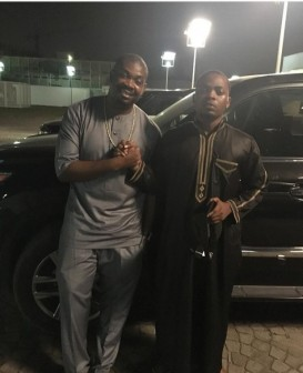 Olamide and Don Jazzy: at Dangote's house in Lagos