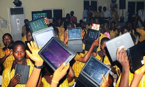 Osun secondary school students display their Opon Imo