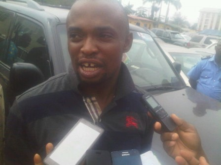 Osas Felix Bright who allegedly buys stolen vehicles from robbers