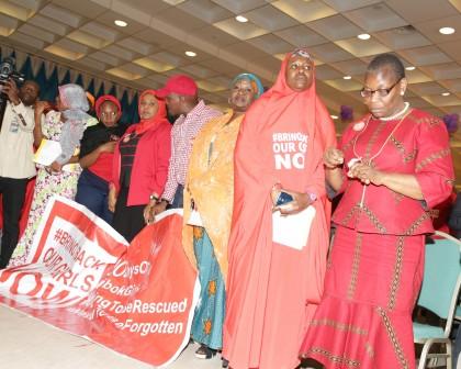 President Buhari receives parents of Chibok Girls