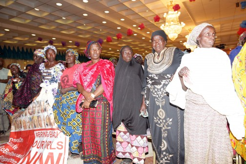 PRESIDENT BUHARI RECEIVES CHIBOK GIRLS PARENTS AND BRIGBACKOURGIRLS GROUP. CROSS SECTION OF MOTHERS OF CHIBOKS GIRLS/BRINGBACKOURGIRLS AT THE PRESIDENTIAL VILLA IN ABUJA. PHOTO; SUNDAY AGHAEZE. JAN 13 2016