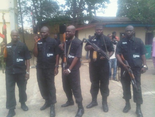 Police FSARS uniform unveils by CP Owoseni on Friday during parade