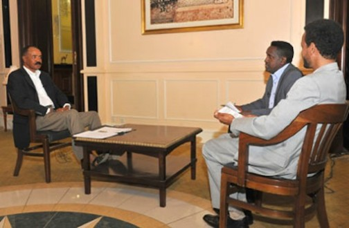 President Isaias Afwerki interviewed by local journalists