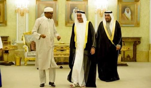 President Muhammadu Buhari and 3rd Deputy Prime Minister of the United Arab Emirates (UAE) Sheikh Sultan Bin Zayed