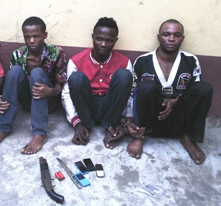 3-man robbery gang arrested by RRS at Ijora, Lagos