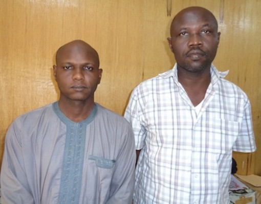 Barrister Binanu R. Esthon, former Chairman, Nigerian Bar Association, Yola Chapter and Shehu Mustapha, Registrar Litigation, Adamawa State High Court