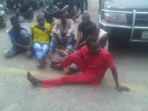 Suspects paraded on Friday by CP Owoseni