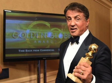 """Sylvester Stallone walked away from the Golden Globes with best supporting actor in """"Creed,"""" in which he reprised his iconic role of boxer Rocky Balboa (AFP Photo/Frederic J Brown)"""