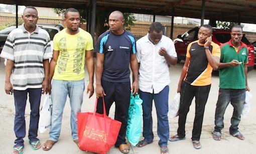L-R: Are Ayannubi Moses, Sopuruchukwu Chukwudi, Obinna Ebu, Abdullaihi Oyelade, Charles Ubey and Achia Vincent