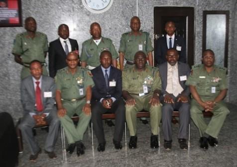 General Officer Commanding( GOC) 82 Division, Nigerian Army, Enugu, Major General Ibrahim Attahiru, Head of Operations, Enugu Zone, Obioha Okorie and other army, EFCC personnel