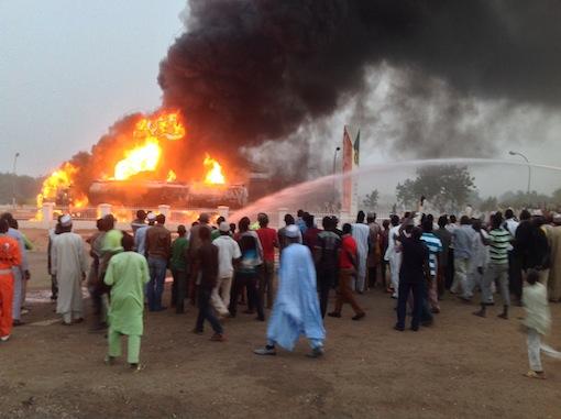 NNPC Mega Station Dutse on fire