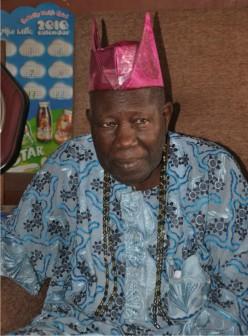 The incoming Olubadan of Ibadan, Balogun Saliu Adetunji