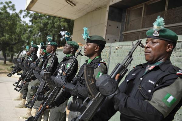 A Nigerian police UN contingent