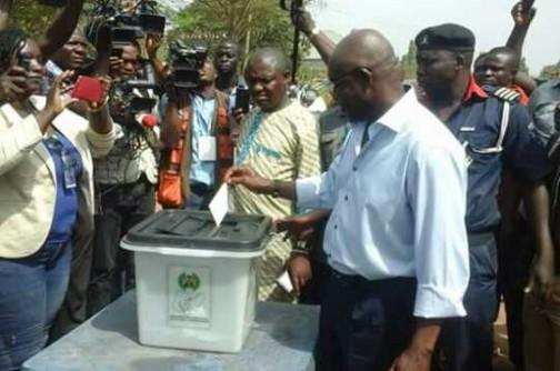 David Mark: casts his ballot on saturday