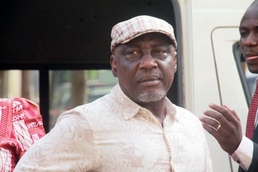 Abba Moro former Interior minister, charged to court by EFCC, over fatal N677m Immigration recruitment scam in 2014. Moro arrived the Federal High Court Abuja, Monday morning, 29 Feb. 2016. Photo: Femi Ipaye/P.M.NEWS