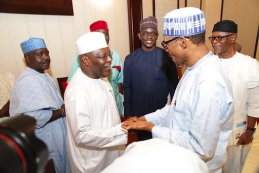Former vice president of Nigeria, Atiku Abubakar is also received by President Muhammadu Buhari