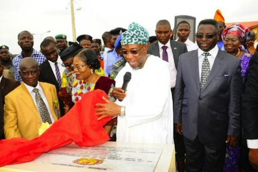 Governor Rauf Aregbesola unveils the logo of Kings University