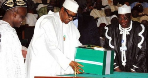President Muhammadu Buhari presents the 2016 budget