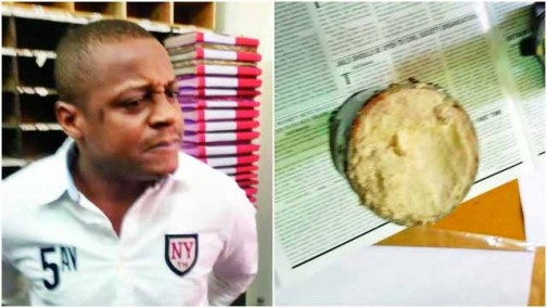 Frank William and his cocaine.  Photo: DNA India