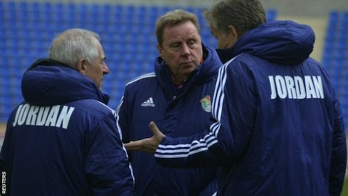 Harry Redknapp and his coaching crew