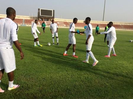 Super Eagles training in Kaduna ahead of the match against Egypt