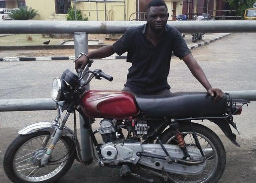 Goodness Allison arrested with members of his syndicate for impersonating police/soldiers and seize motorcycles and resell them