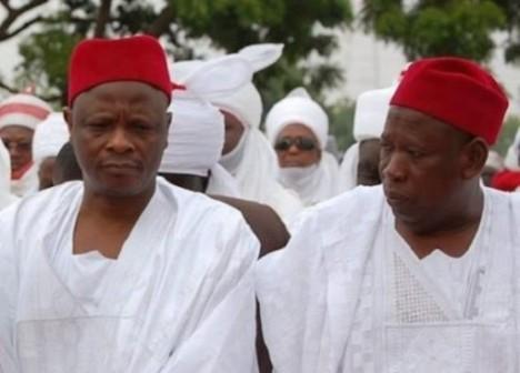 L-R: Senator Rabiu Kwankwaso and Governor Abdullahi Ganduje of Kano State
