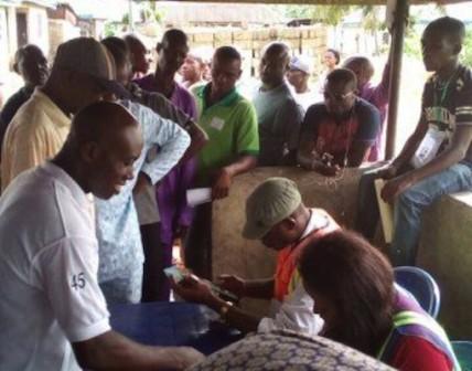 Accreditation ongoing in Rivers Rerun Photo: Okafor Ofeibor/PM News