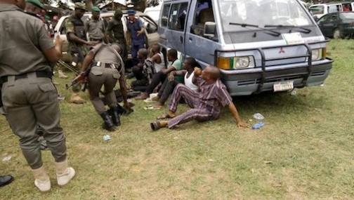 Some of the arrested persons in Rivers