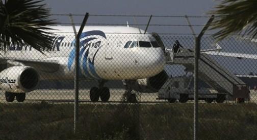 The hijacked EgyptAir plane