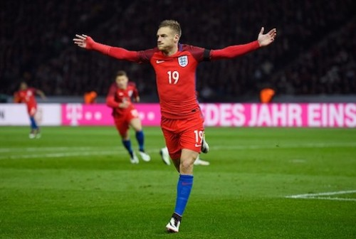Jamie Vardy in England colours