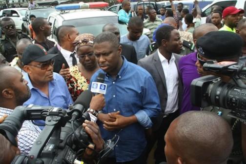 NIMASA, DG, Dakuku Peterside addressing journalists