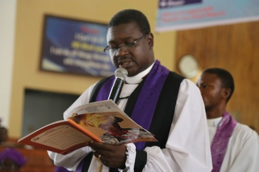 RT. Revd., Dr. Michael Fape ministering at the ceremony