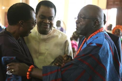 L-R: Former Ogun State Gov. Gbenga Daniel with  Former Cross River State Gov. Donald Duke