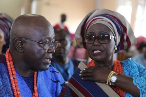 L-R: Dr. Yemi Ogunbiyi and his Wife, Folasade