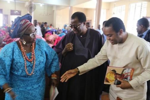 L-R: Olori Olubukola Osiberu, Otunba Gbenga Daniel and Donald Duke