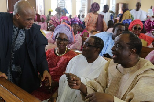 L-R: Biodun Shobanjo; Mrs. Kofo Odeyemi and his Husband, John Odeyemi and Olorogun Sunny Kuku