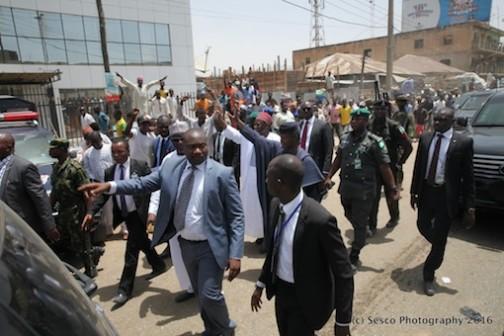 Even on the street, Kano citizens were cheering Prof Yemi Osinbajo