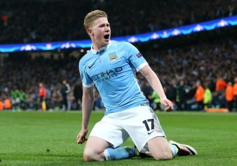Kevin De Bruyne fires Man City to first ever semi final in the Champions League