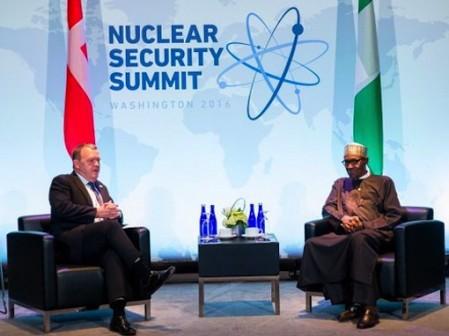 Lars Rasmussen and President Muhammadu Buhari
